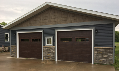 garage construction in Jim Falls, WI