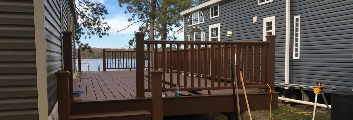 deck construction in Jim Falls, WI